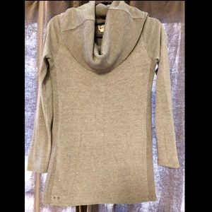 Cowl neck sweater grey sweater/ top